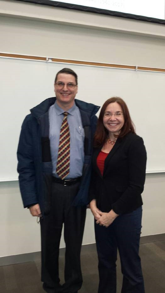 Picture of Brad Stewart of Dynamica Machine Design and Dr Katharine Hayhoe