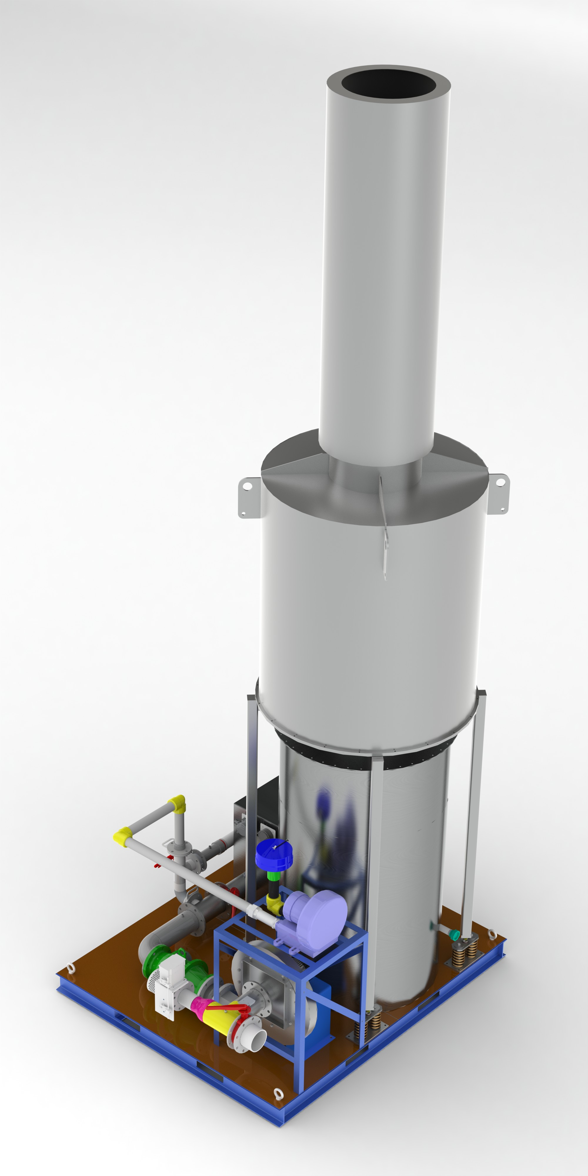 Thermal Oxidizer with silencer stack