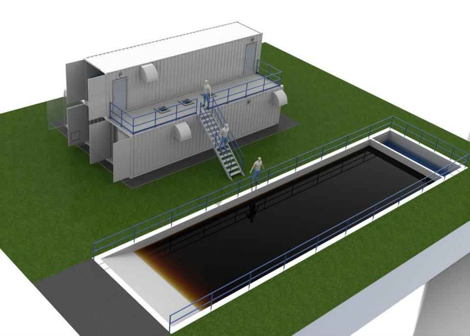 Containerize water treatment plant